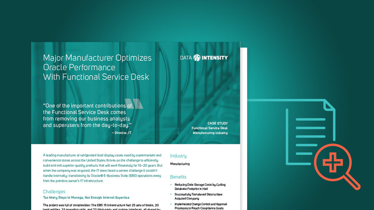 Major Manufacturer Optimizes Oracle Performance With Functional Service Desk