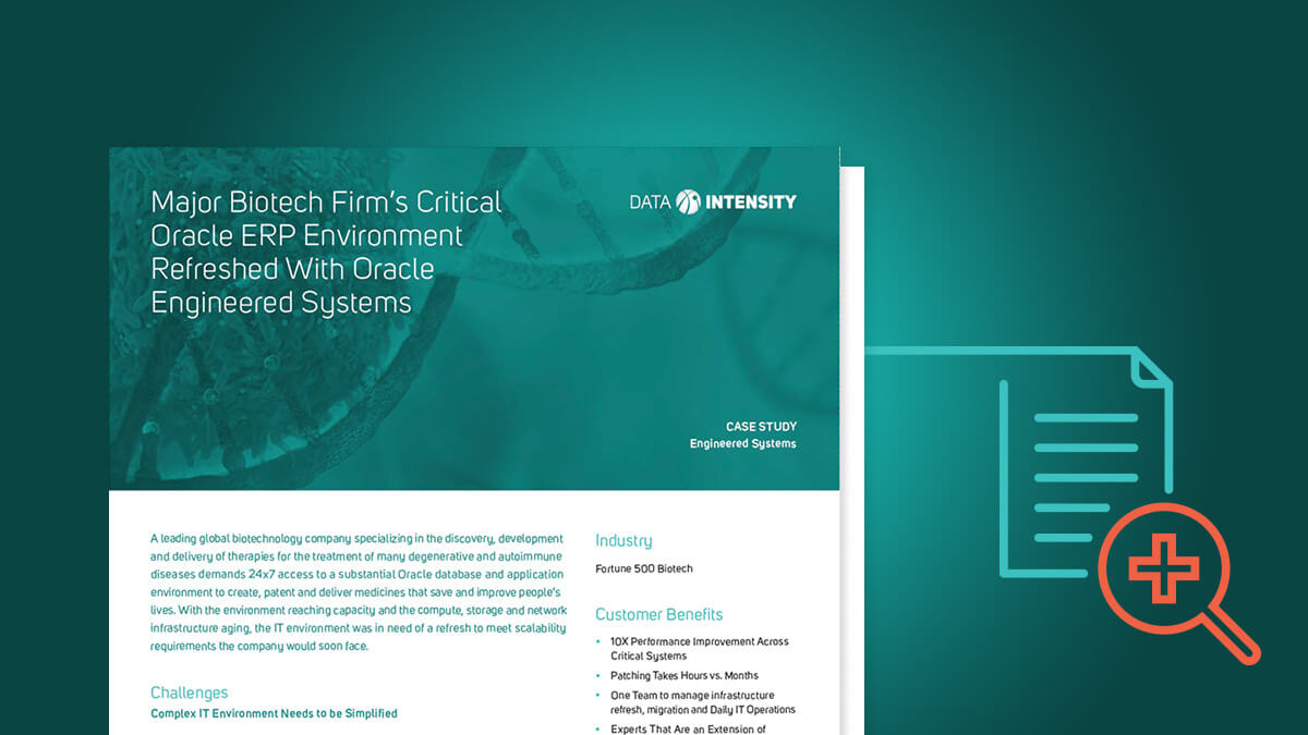 Major Biotech Firm's Critical Oracle ERP Environment Refreshed With Oracle Engineered Systems