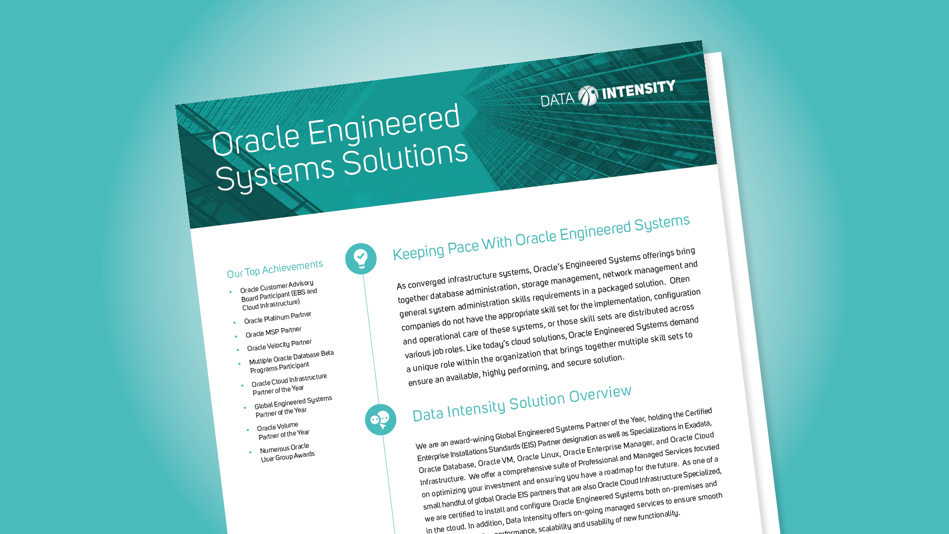 Oracle Engineered Systems Solutions
