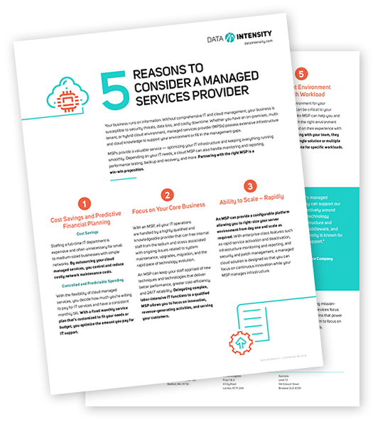 5 Reasons to Consider a Managed Services Provider