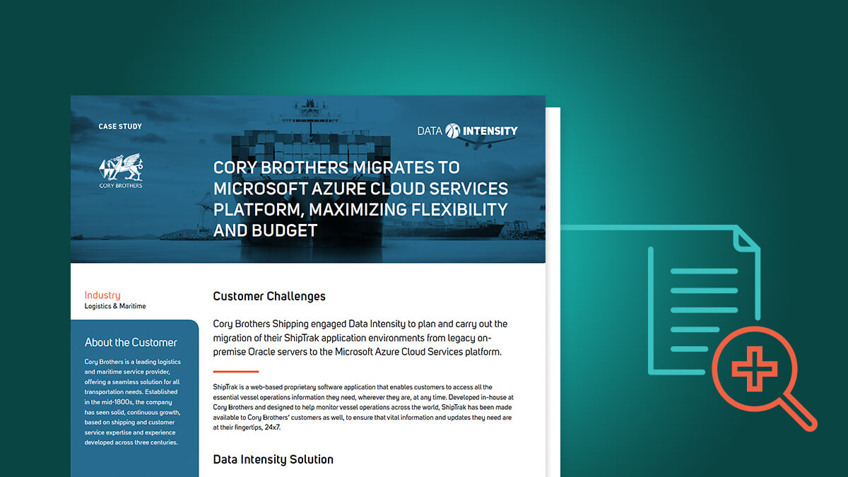 Cory Brothers Migrates to Microsoft Azure Cloud Services Platform, Maximizing Flexibility and Budget