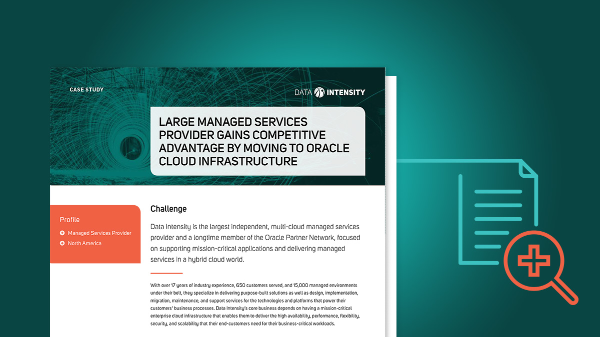 Large Managed Services Provider Gains Competitive Advantage by Moving to Oracle Cloud Infrastructure