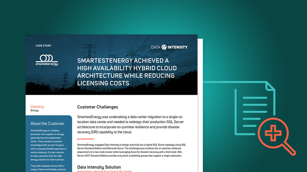 Smartestenergy Achieved a High Availability Hybrid Cloud Architecture While Reducing Licensing Costs