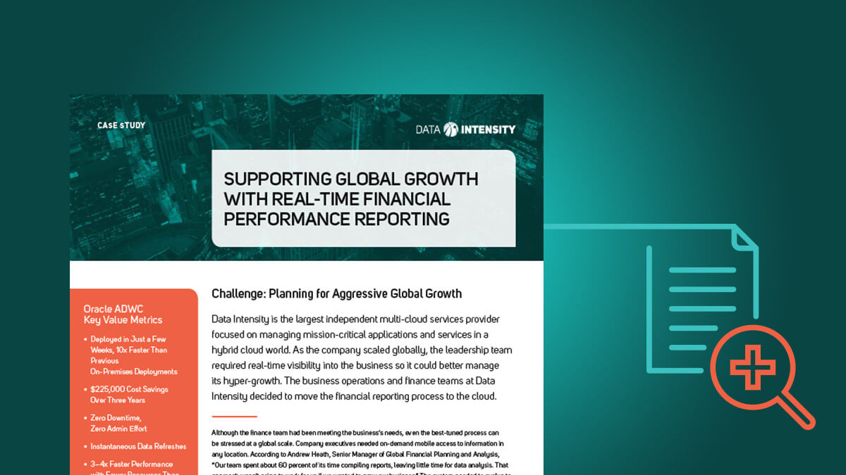 Supporting Global Growth with Real-Time Financial Performance Reporting