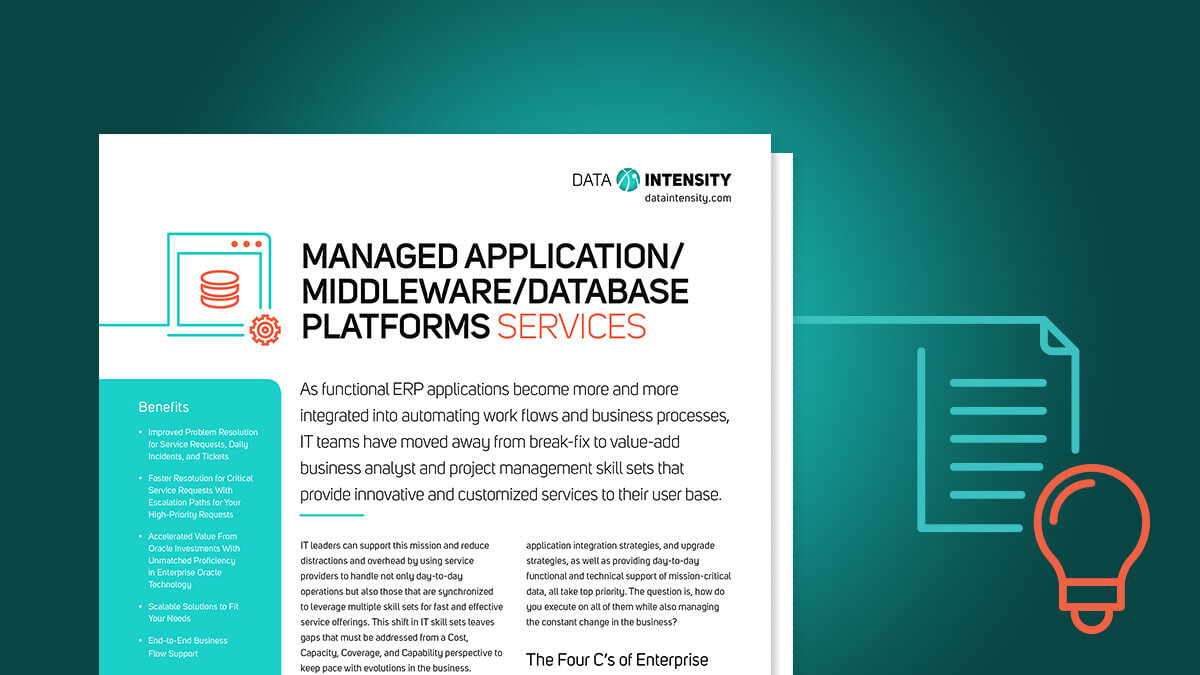Managed Application/Middleware/Database Platforms Services