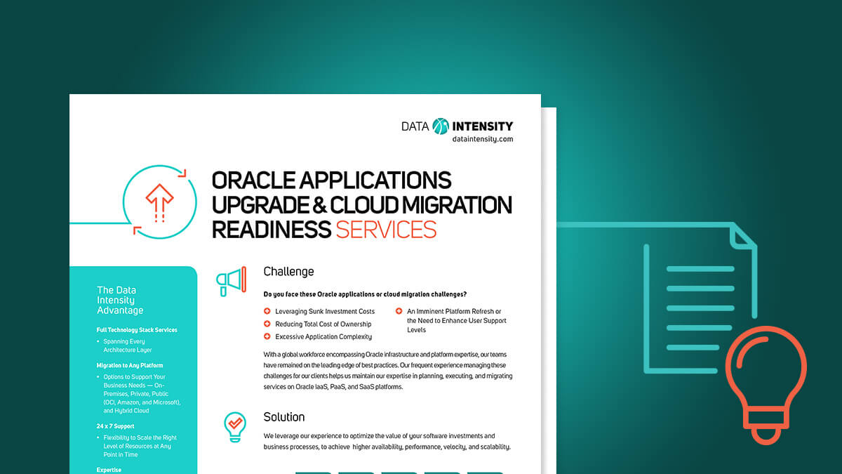 Oracle Applications Upgrade and Cloud Migration Readiness Services