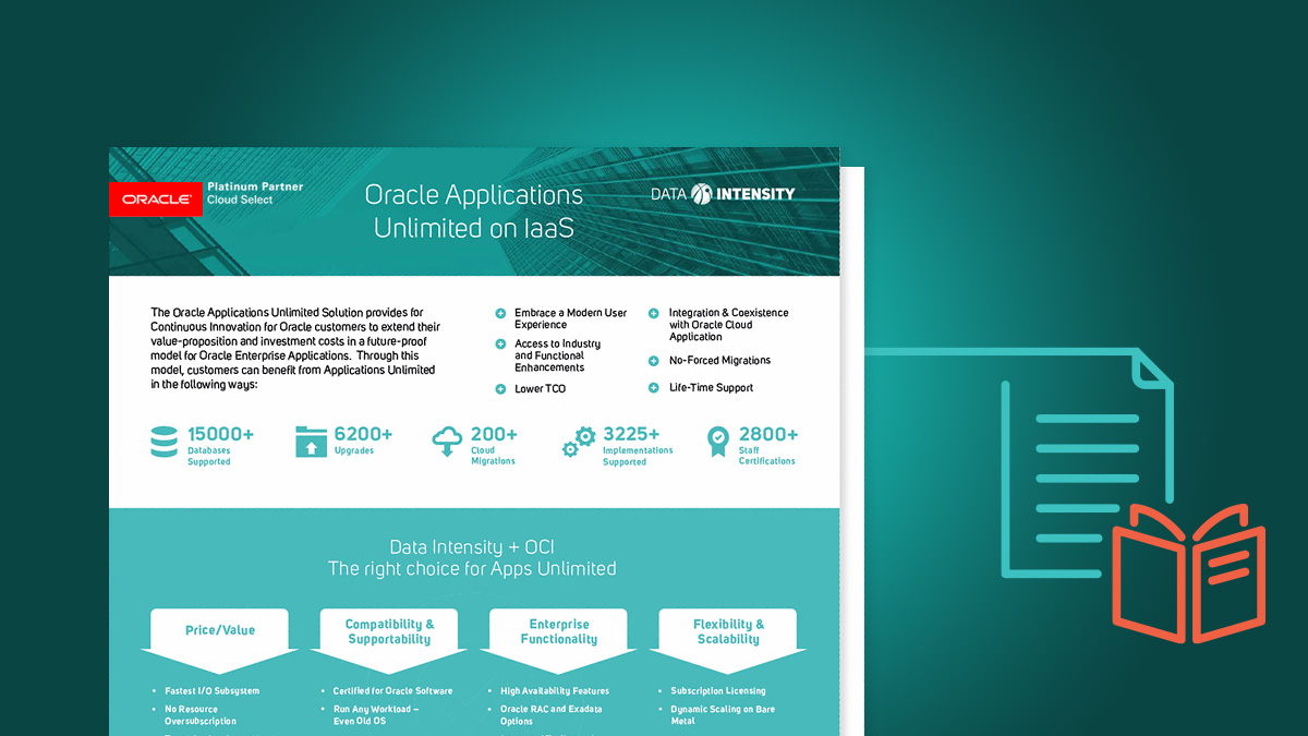 Data Intensity Oracle Applications unlimited on IAAS